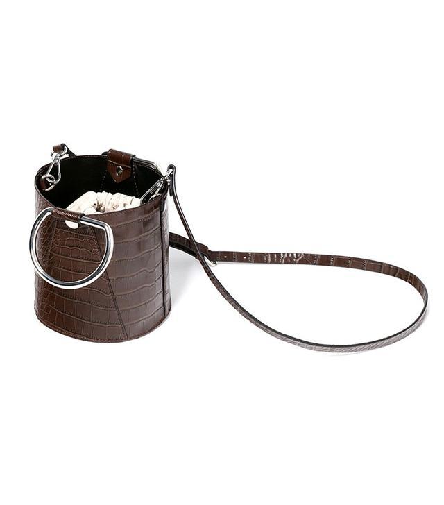 Zara Mock-Croc Mini Bucket Bag