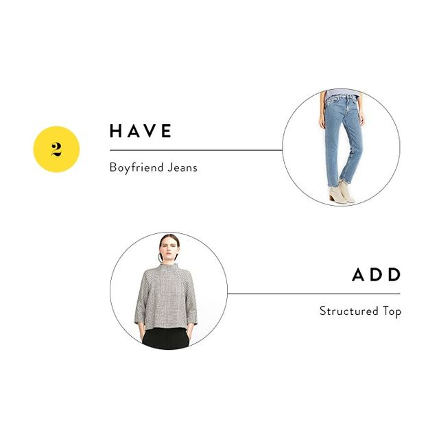 To make jeans feel work-appropriate, they need something structured to balance them out. A sophisticated top adds the polish you need to pull off this look.