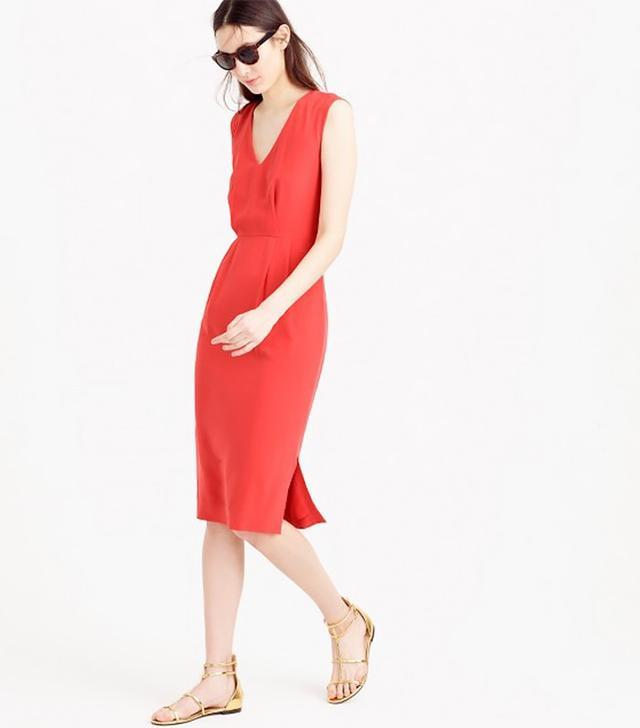 J.Crew Sleeveless Silk Dress