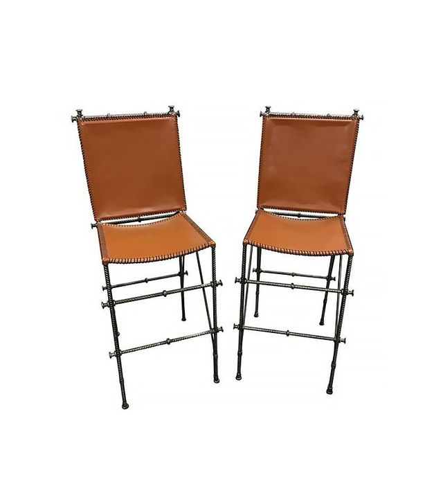 Shadow Mountain Leather Bar Stools