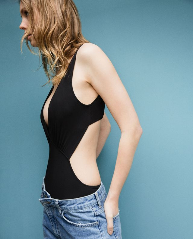 Zara V-Neck Swimsuit