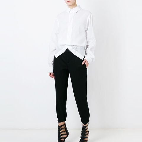 Icon Folded Front Cropped Shirt