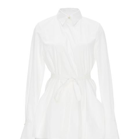 Cotton Long Sleeved Wrap Shirt
