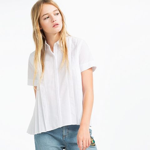 Shirt With Fine Pleats