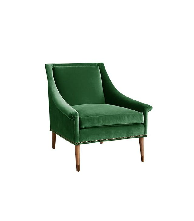 Anthropologie Velvet Tillie Armchair