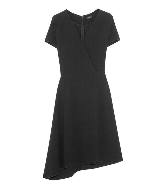 Joseph June Asymmetric Wrap-Effect Stretch-Crepe Dress