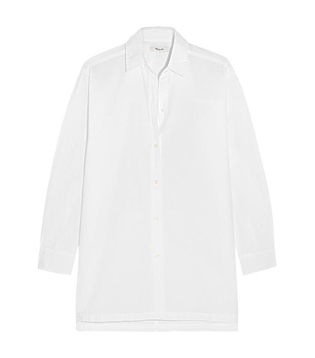 Madewell Oversized Cotton-Poplin Shirt