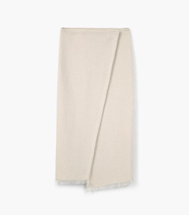 Mango Cotton-Blend Wrap Skirt