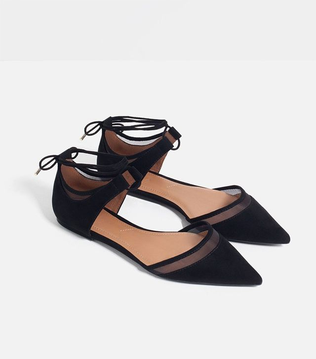 Zara Mesh D'Orsay Shoes