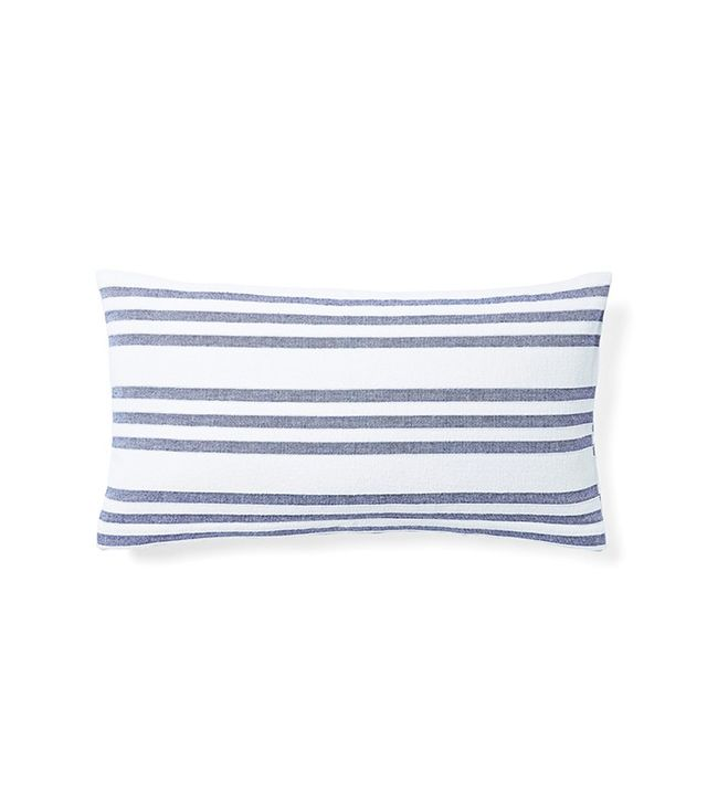 Serena & Lily Pinstriped Fouta Pillow Cover