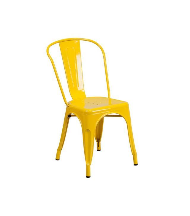 Overstock Metal Indoor/Outdoor Stackable Chair