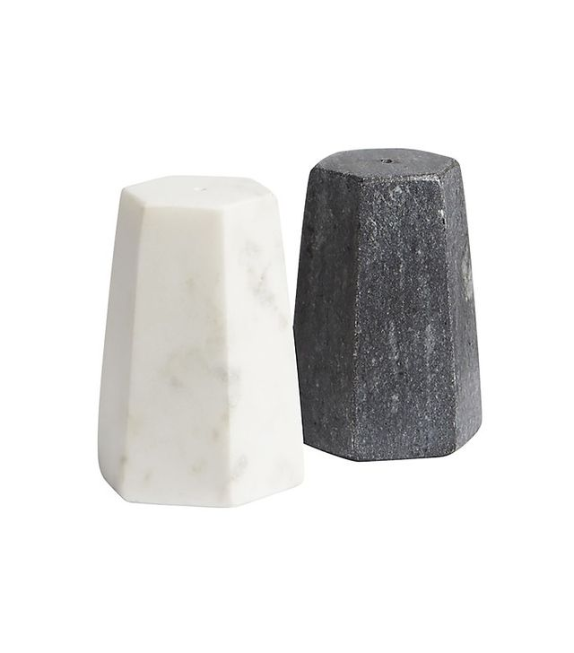 CB2 2-Piece Marble Salt and Pepper Shaker