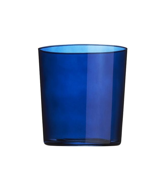 CB2 Marta Midnight Blue Double Old Fashioned Glass
