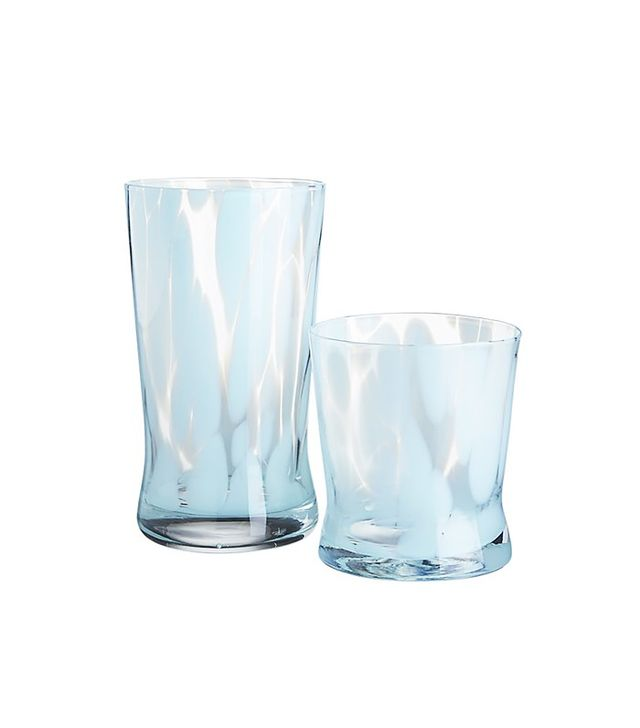 CB2 Wisp Blue Barware