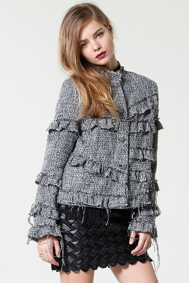 Storets Fringe a Lot Tweed Jacket