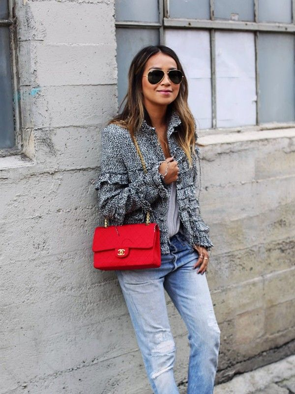3 Cool Ways to Wear a Chanel Jacket and Jeans3 Cool Ways ...