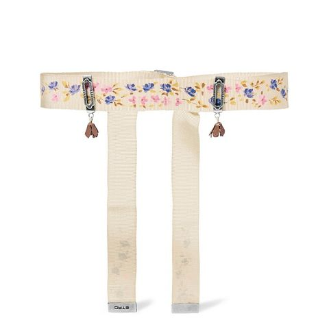 Printed Grosgrain and Enamel Choker