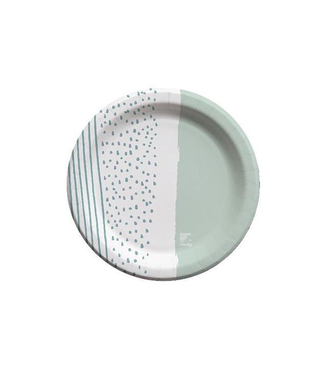 Cheeky Stripe Polka Dot Paper Plate