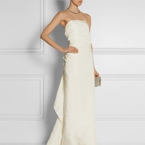 Silk-Faille Gown