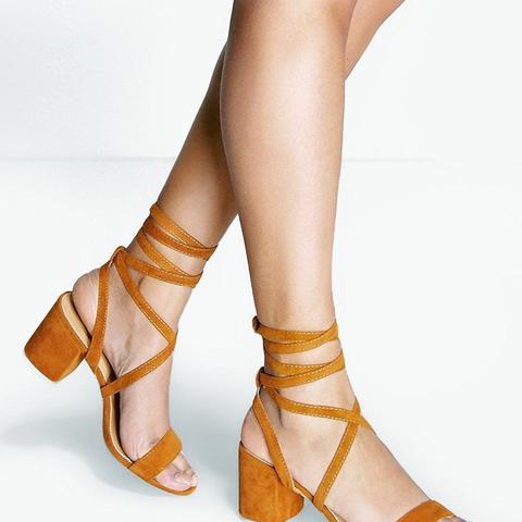 Eva Low Block Heel Wrap Strap Heel