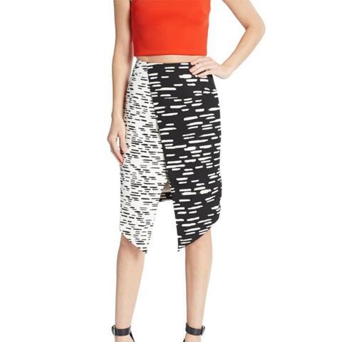 Don't Wait Striped Asymmetrical Skirt