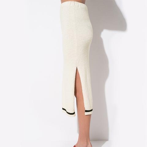 FRS Black and White Knitted Midi Skirt