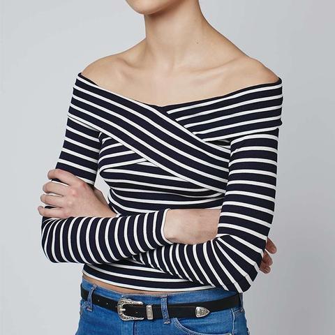 Bardot Stripe Top