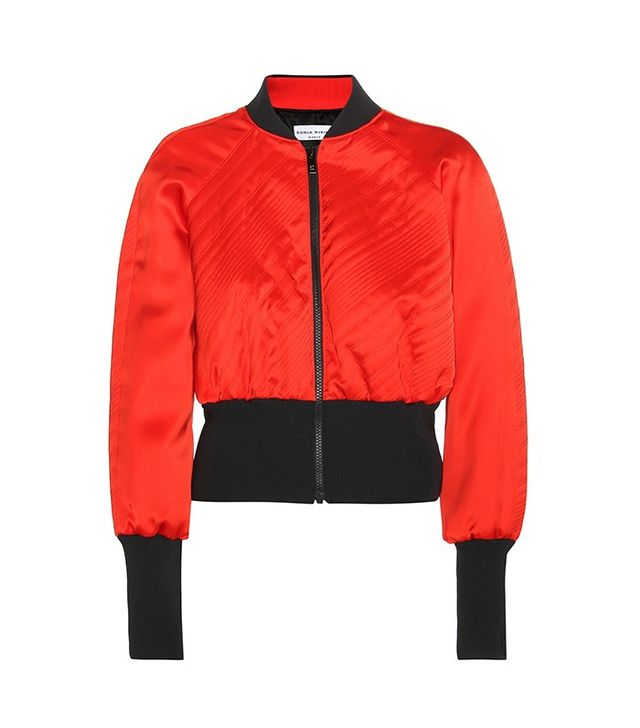 Sonia Rykiel Satin Cropped Jacket