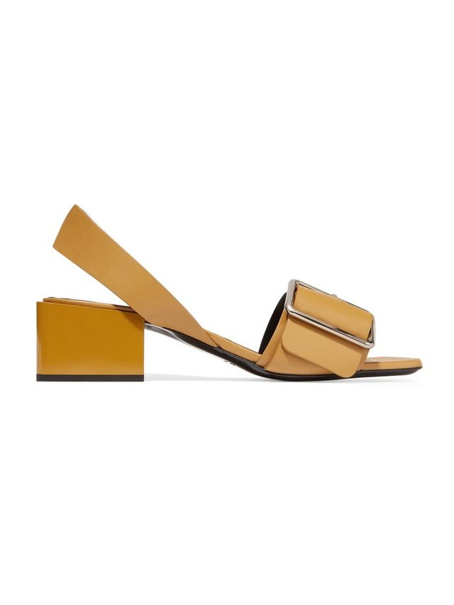 Jil Sander Buckled Leather Sandals