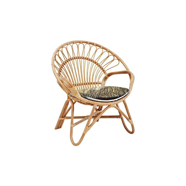 Family Love Tree Rattan Round Chair Natural
