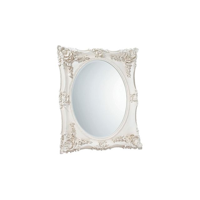 Laura Ashley Beth Overmantle Mirror in White