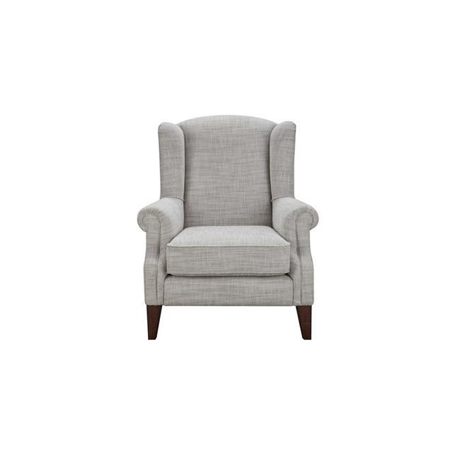 Freedom Classic Wing Armchair in Herringbone Natural