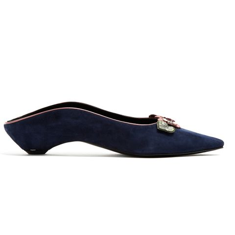 Be My Valentine Suede Backless Loafers