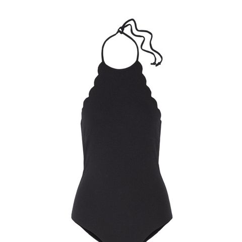 Mott Scalloped Halterneck Swimsuit