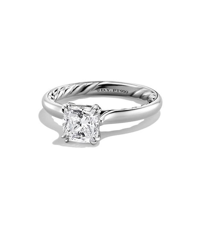David Yurman DY Classic Solitaire Engagement Ring in Platinum