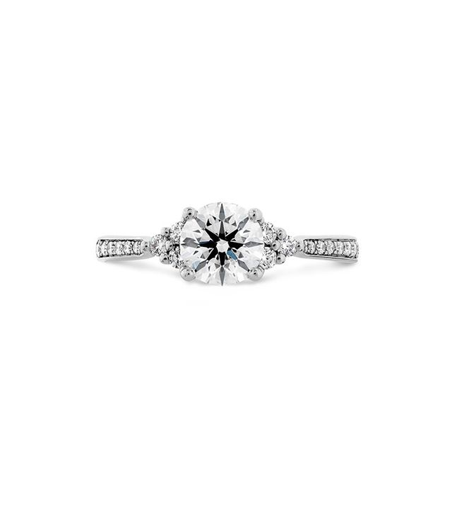 Hearts on Fire Felicity Queen Anne Engagement Ring-Diamond Band