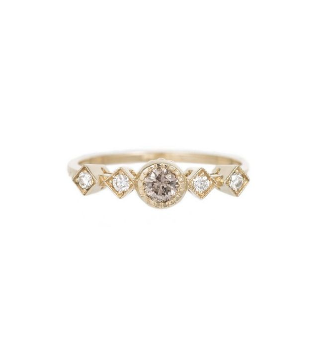 Jennie Kwon Champagne Diamond Echo Ring