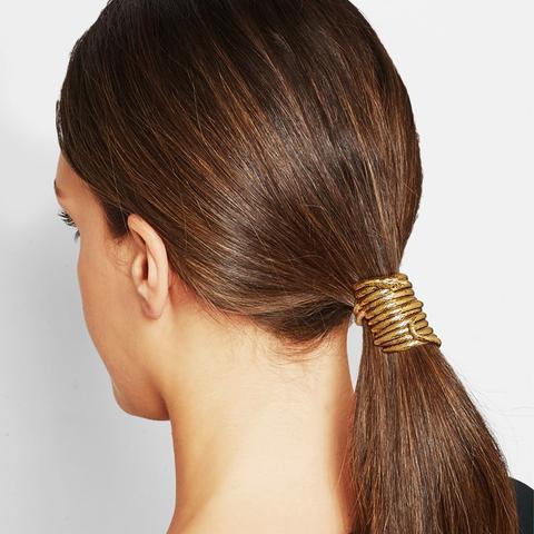 Medusa Gold-Tone hair tie