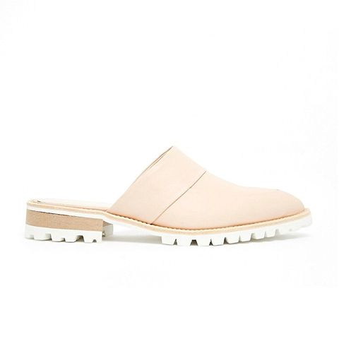 Milla Backless Point Toe Flat Mule Sandals
