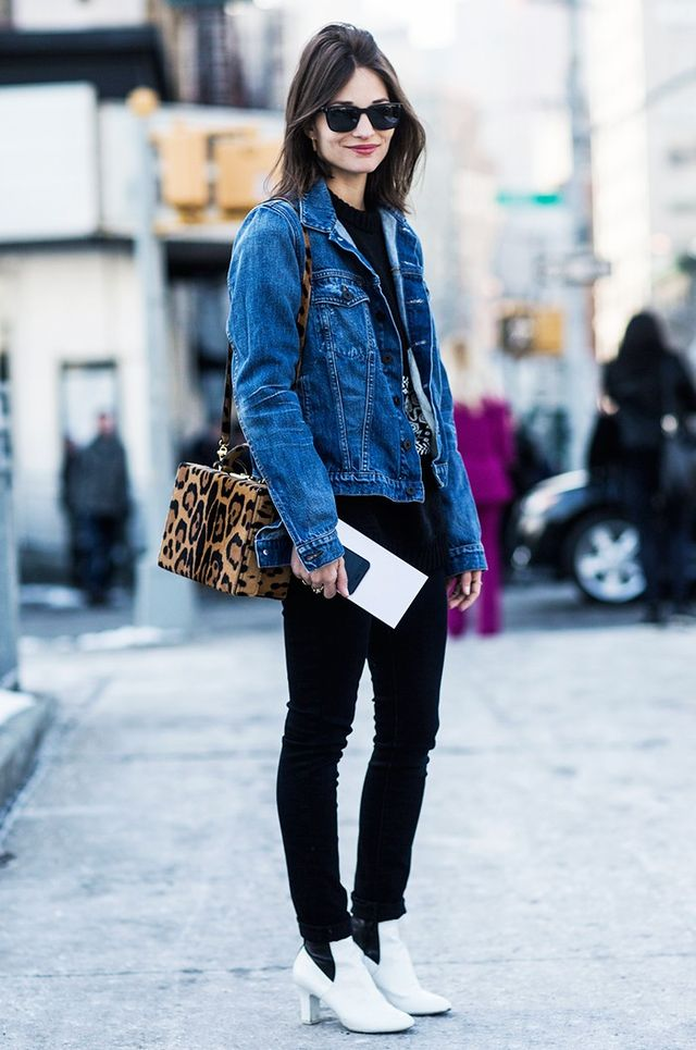 A Denim Jacket, Black Jeans, and Booties