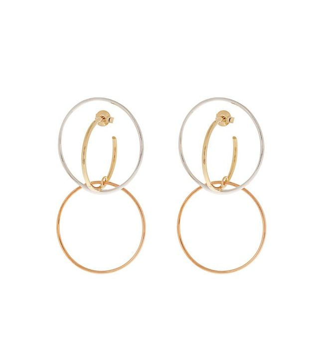 Charlotte Chesnais Galilea Silver and Gold-Plated Earrings