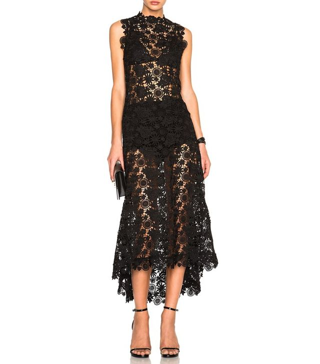 Theperfext Skylar Crochet Lace Long Dress