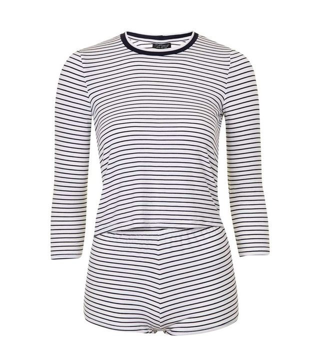 Topshop Striped Pyjama Set