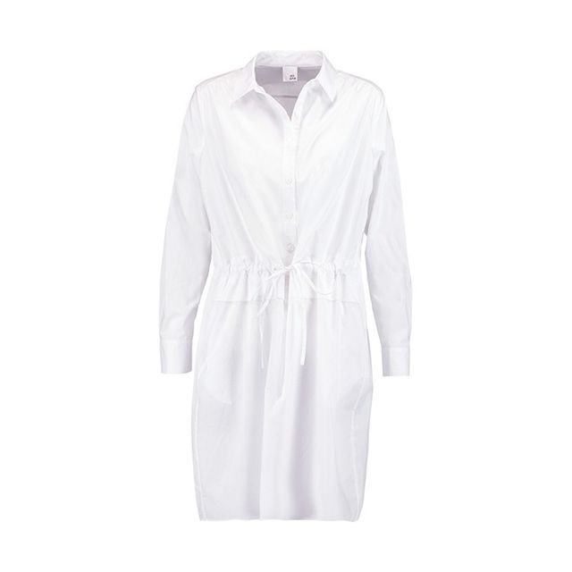 Iris And Ink Roisin Drawstring Cotton-Poplin Shirt Dress
