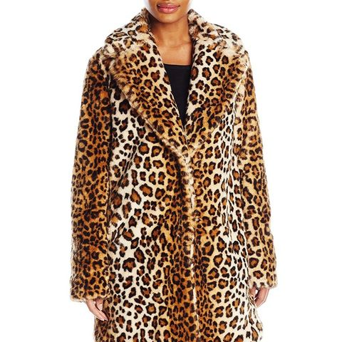 Faux-Fur Leopard Coat