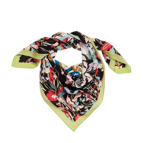 Patterned Silk Scarf