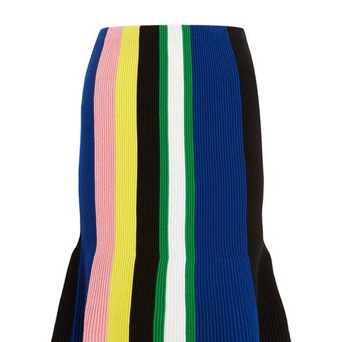 Striped Ribbed Merino Wool Skirt