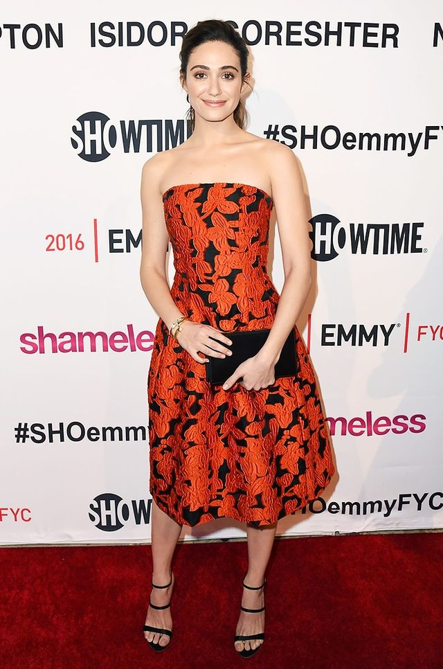 Last week, Emmy Rossum looked radiant on the red carpet at Showtime's screening and panel discussion with the women of Shameless. Her Oscar de la Renta dress offered a feminine take on the...