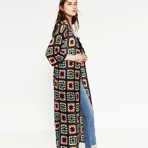 Patchwork Crochet Coat
