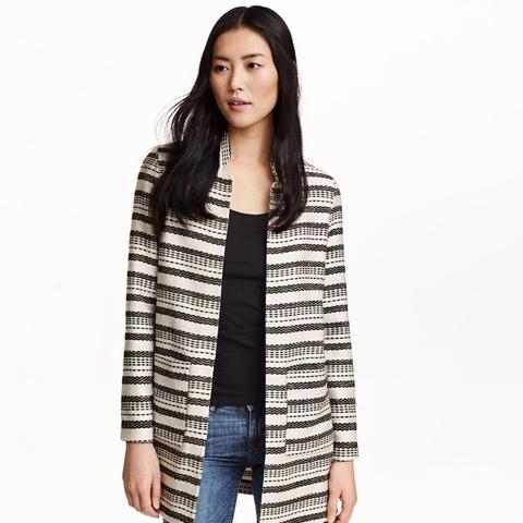 Jaquard-Weave Coat